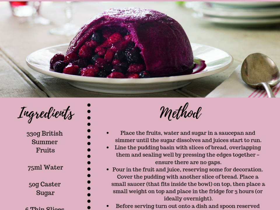 Summer Fruits Pudding